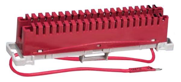 Плинт заземления ПВТ, 10 пар, красный