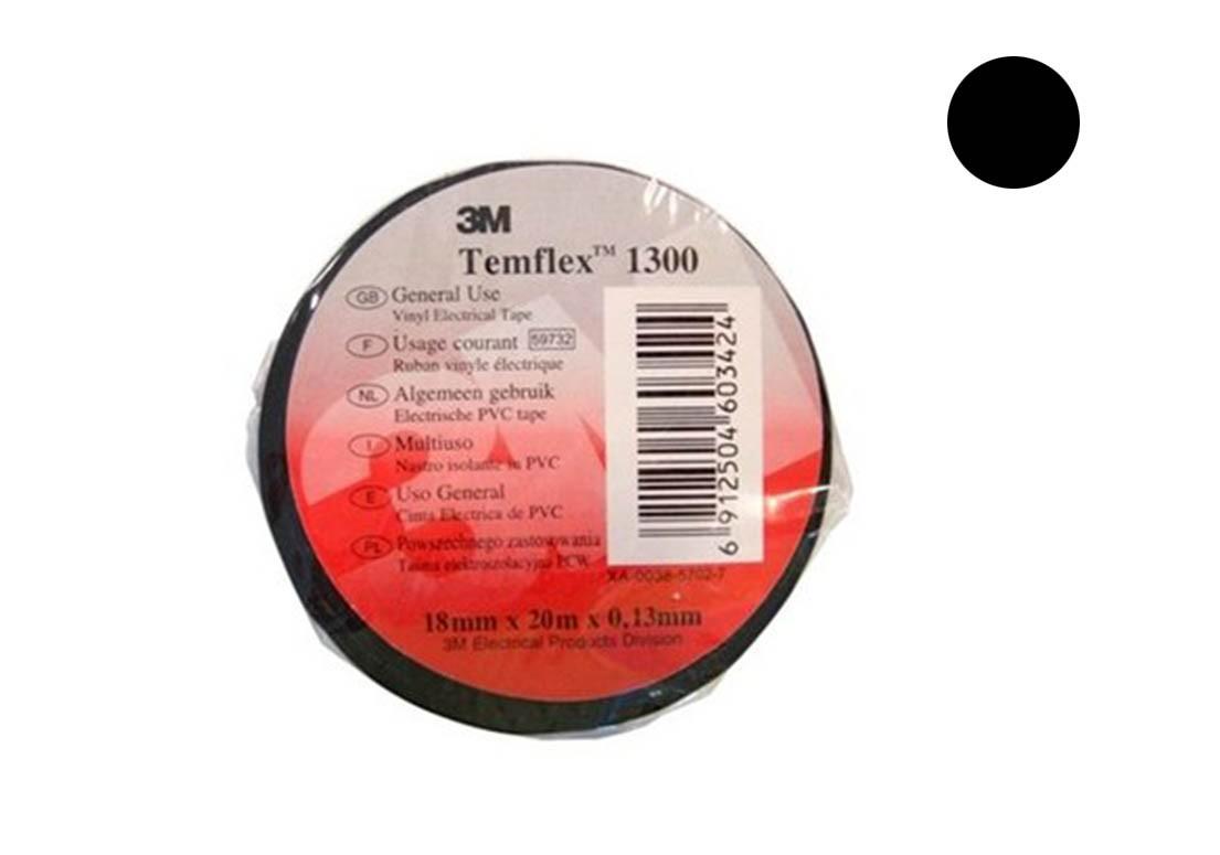 Temflex 1300 Лента изоляционная чёрная 15мм 10м