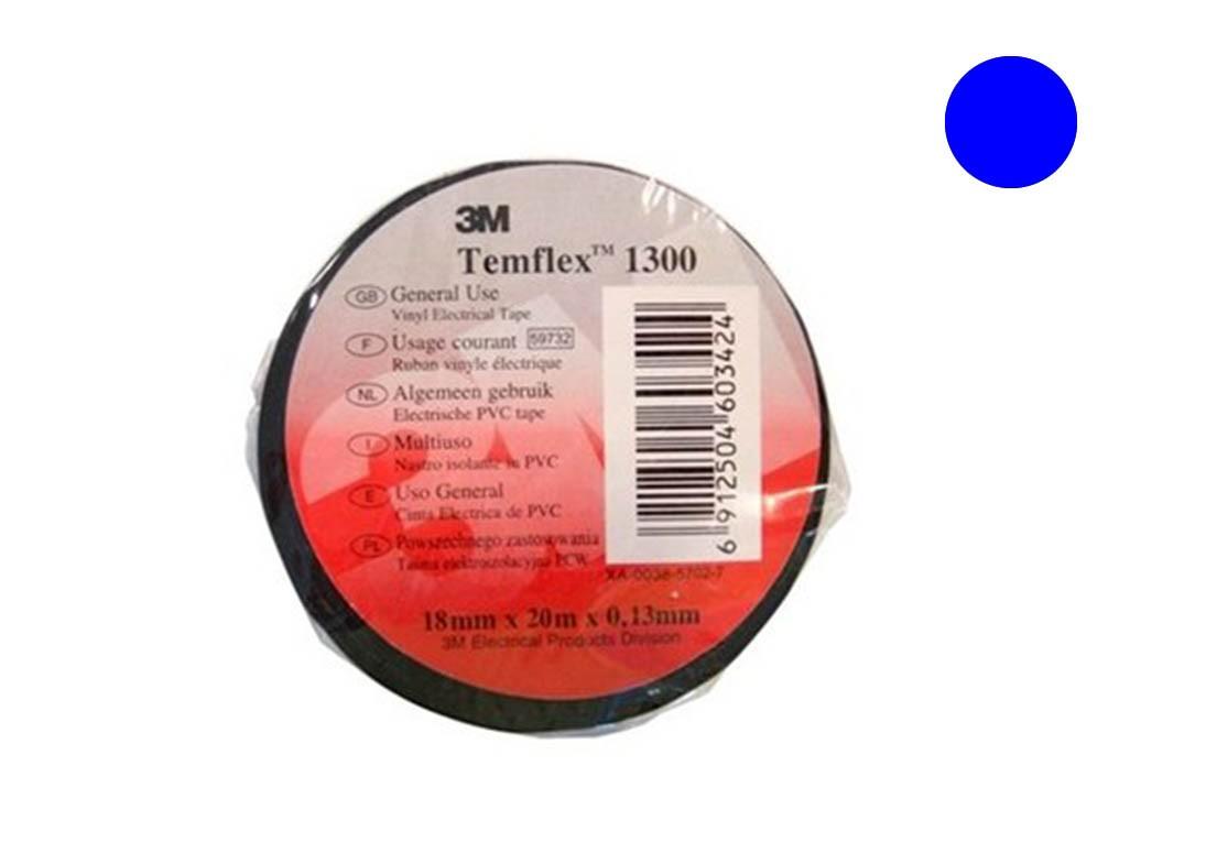 Temflex 1300 Лента изоляционная синяя 19мм 20м