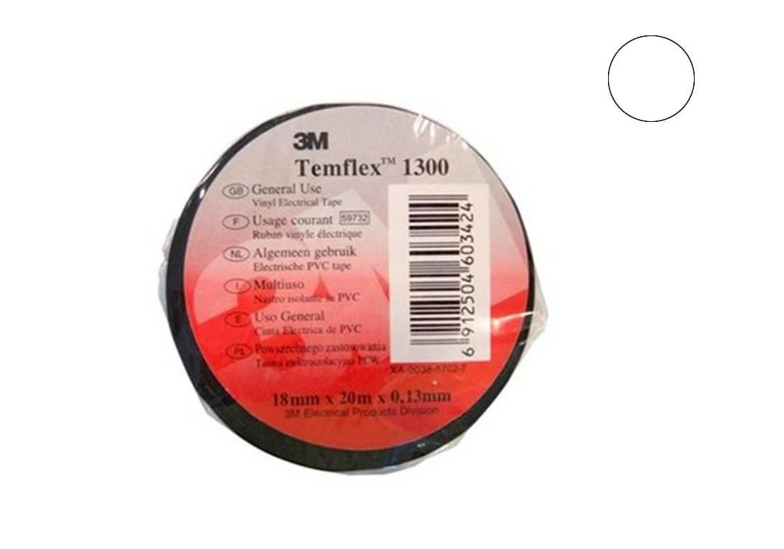 Temflex 1300 Лента изоляционная белая 15мм 10м