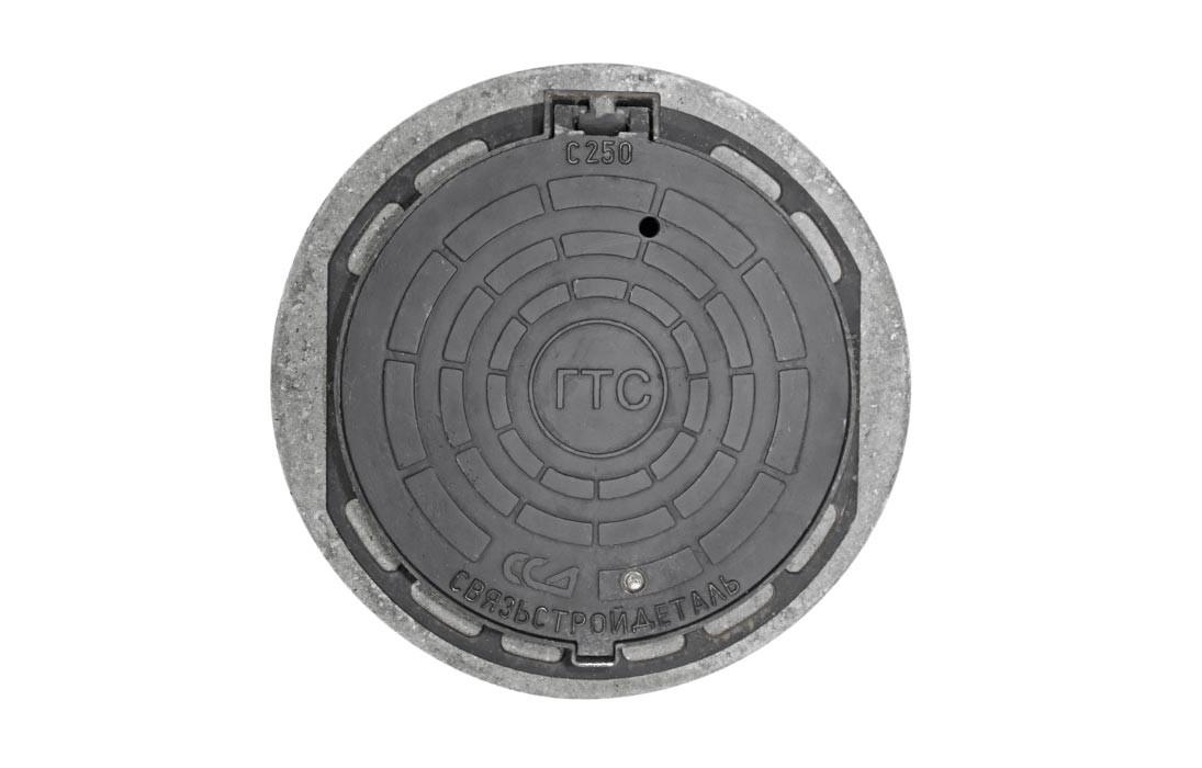 Люк ГТС тяжёлый с замком из ВЧ с кольцом КО-1