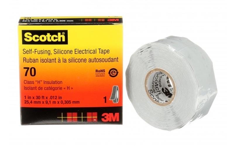 Scotch 70 Лента резиновая 25мм 9м